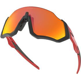 Oakley Flight Jacket Gafas de sol, redline/prizm ruby polarized